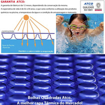 Capa Térmica Azul P/ Piscina Aquecida Bolha Promoção 6x5 M
