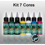 Kit Com 7 Tintas Para Tatuagens Electric Ink