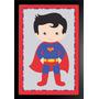 Quadro Parede Decorativo Infantil Super Homen Texturizado 14