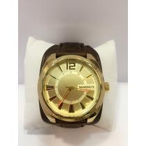 Relógio Masculino Marinus Bracelete De Couro Frete Grátis