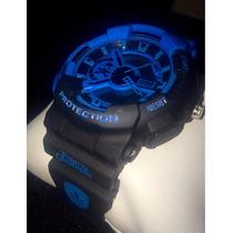 Relógio Esportivo Mod Piratas Do Caribe Azul