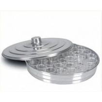 Bandeja De Aluminio Média Para Santa Ceia Com 34 Cálices