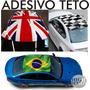 Adesivo Teto Ou Capô Carro Bandeiras Vários Modelos Racing