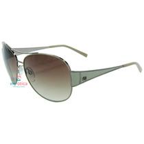 Óculos De Sol Ana Hickmann Ah3077 Prata E Bege Original