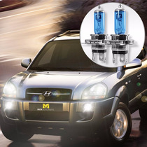 Kit Lâmpada H4 Super Branca Hyundai Tucson 2005 A 2013