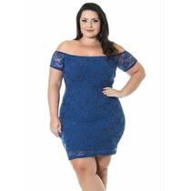 Vestido Azul Miss Masy Plus Size Renda