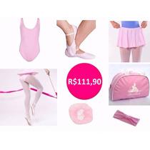 Roupa De Ballet Infantil - Kit Com 07 Peças