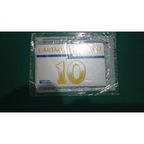 01 Cartões Telefonico Numeral 10 (amarelo) Raros
