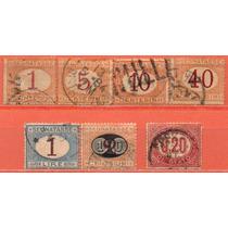 Itália - Algarismos - Acumulação Com 7 Selos