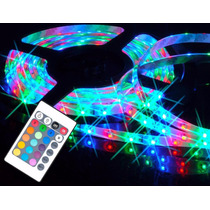 Fita Rgb 3528 Ultra Led Luz Arvore Natal C/ Controle + Fonte