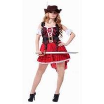 Fantasia Feminina Pirata Combate Chapéu - Tamanho Único