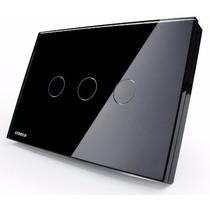 Interruptor Touch Livolo 3 Vias S/ Dimmer S/ Remote Preto