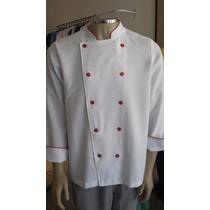Dolma Chef Branco Com Detalhes Vermelho