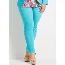 Calça Azul Cotton Jeans Plus Size - Gordinhas Lindas -