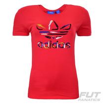 Camiseta Adidas Trefoil Originals Feminina - Futfanatics