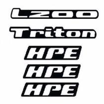 Kit Adesivos Resinados L200 Triton 3 Hpe