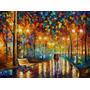 Painel Grande Obra Rains Rustle 90x121cm Tela Leonid Afremov