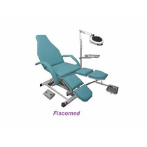 Cadeira Maca De Podologia Verde Elevação Elétrica Luxo