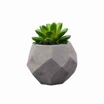 Vaso De Cimento Com Cactos De Plástico 10,5cm Lyor 3606