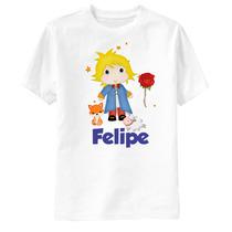 Camiseta Personalizada Pequeno Príncipe - Príncipe E Amigos