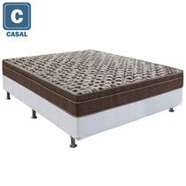 Cama Box Casal Ortobom + Colchão Revitale 55x138x188cm