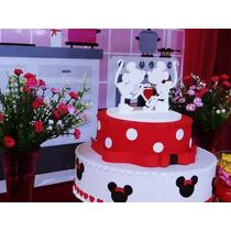 Topo De Bolo Mdf Mickey E Minnie *-* Promoção Mês Das Noivas