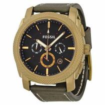 Relógio Pulseira Couro Fossil Completo Original