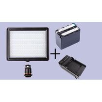 Iluminador 160 Leds+carregador+bateria Np-f970, Frete Grátis