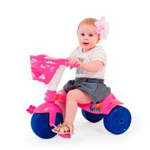 Triciclo Infantil Feminino Fofete Com Cestinha - Cor Rosa