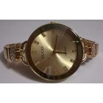 Relógio Gucci Feminino Luxo Dourado Lançamento