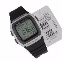 Relogio Casio W96h Prata-dourado Timer Crono Alarme 10 Anos