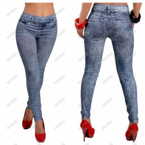 Calça Legging Jeans - Fashion   Leg   Denim   Leging