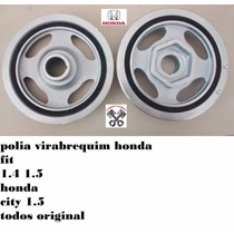 Polia Virabrequim Honda Fit City 1.4 1.5 Gas Flex Original
