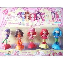 Coleção Moranguinho 5 Bonecas Kit 10 Cm Princesas