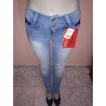 Calça Jeans Manchada- Cós Baixo (levanta O Bumbum)