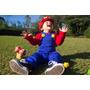 Fantasia Super Mario Infantil Luxo Personalizado