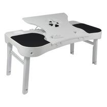 Mesa Com Cooler Canhotos E Destros Para Notebook E Estudos