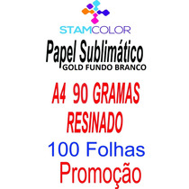 Papel Sublimatico Gold A4 90 Gramas, Pacote 100 Folhas C7