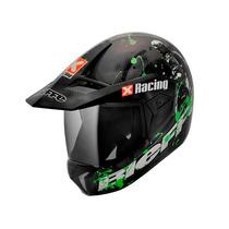 Capacete Bieffe 3 Sport Xracing Cinza Fosco/verde Lançament