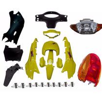 Kit Carenagem Completa P/ Biz100 98/99 -amarelo C/adesivad
