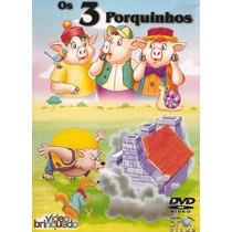 3 Porquinhos Desenho Filme Dublado Dvd Infantil