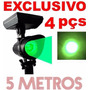 Luminária Refletor Solar Jardim Spot Verde Grama Super Led