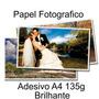 Papel Adesivo Fotografico 100 Folhas A4 Prova D Agua