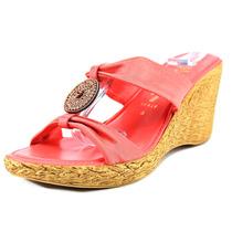 Italian Shoe Makers Vanessa Mulheres Canvas Wedge Sandal