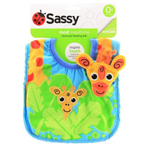 Babador Com Textura Girafinha - Sassy - 4babies