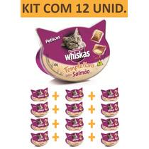 Petisco Gato Whiskas Templations Salmao - Kit C/ 12 Unidades
