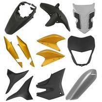 Kit Plásticos Carenagem Honda Xre300 Amarelo + Brinde