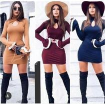 Roupas Femininas Vestido Curto Casual Festa Pronta Entrega