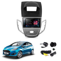 Kit Central Multimidia Ford New Fiesta 14 + Moldura + Camera
