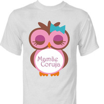 Camisetas Personalizada Mae Coruja Baby Gestante Gravida Plt